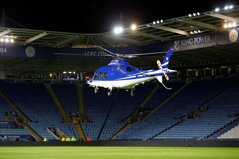 Las últimas imágenes del helicóptero del dueño del Leicester antes de estrellarse