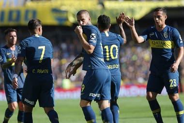 Benedetto marcó 45 goles en 76 partidos durante tres temporadas en Boca