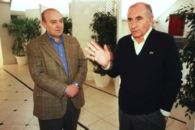 Domingo Cavallo y Fernando de la Rúa en Olivos, 16 de junio de 2001