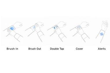 Un tejido especial ubicado en el puño de la campera junto a un pequeño controlador permite controlar algunas funciones del smartphone