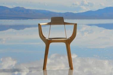 La presentación de la silla fue en las Salinas Grandes.