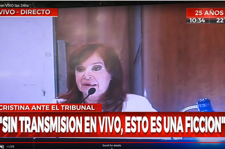 Cristina Kirchner no respondió preguntas, arremetió contra el tribunal y señaló a Alberto Fernández