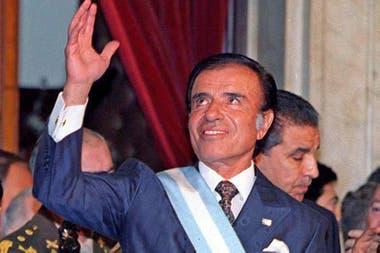 Carlos Menem, en 1995, al asumir su segundo mandato presidencial