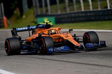 El piloto británico de McLaren, Lando Norris, en el circuito de Monza