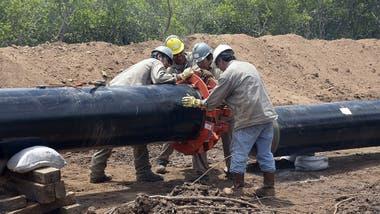 Construcción del gasoducto del NEA