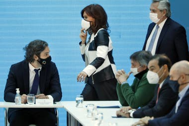 Cristina Kirchner, Alberto Fernández y Cafiero
