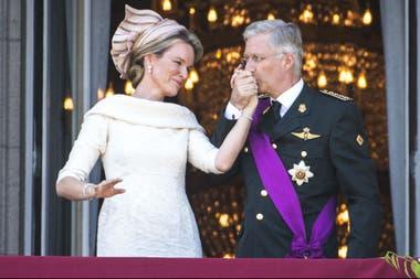 El rey Felipe de Bélgica y la reina Matilda