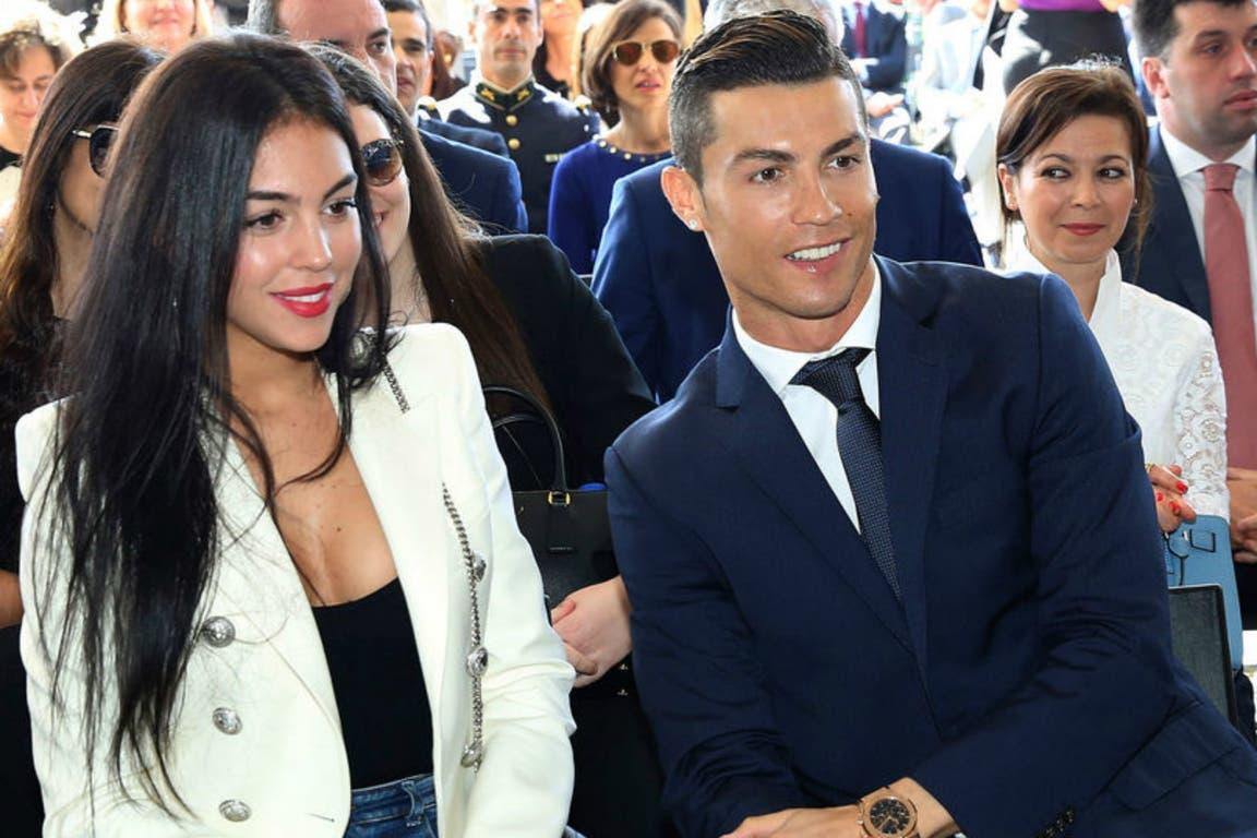 Georgina junto con Cristiano