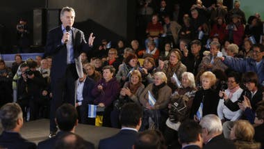 Macri, durante un acto ante jubilados