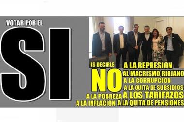 """Uno de los afiches de la campaña por el """"sí"""""""