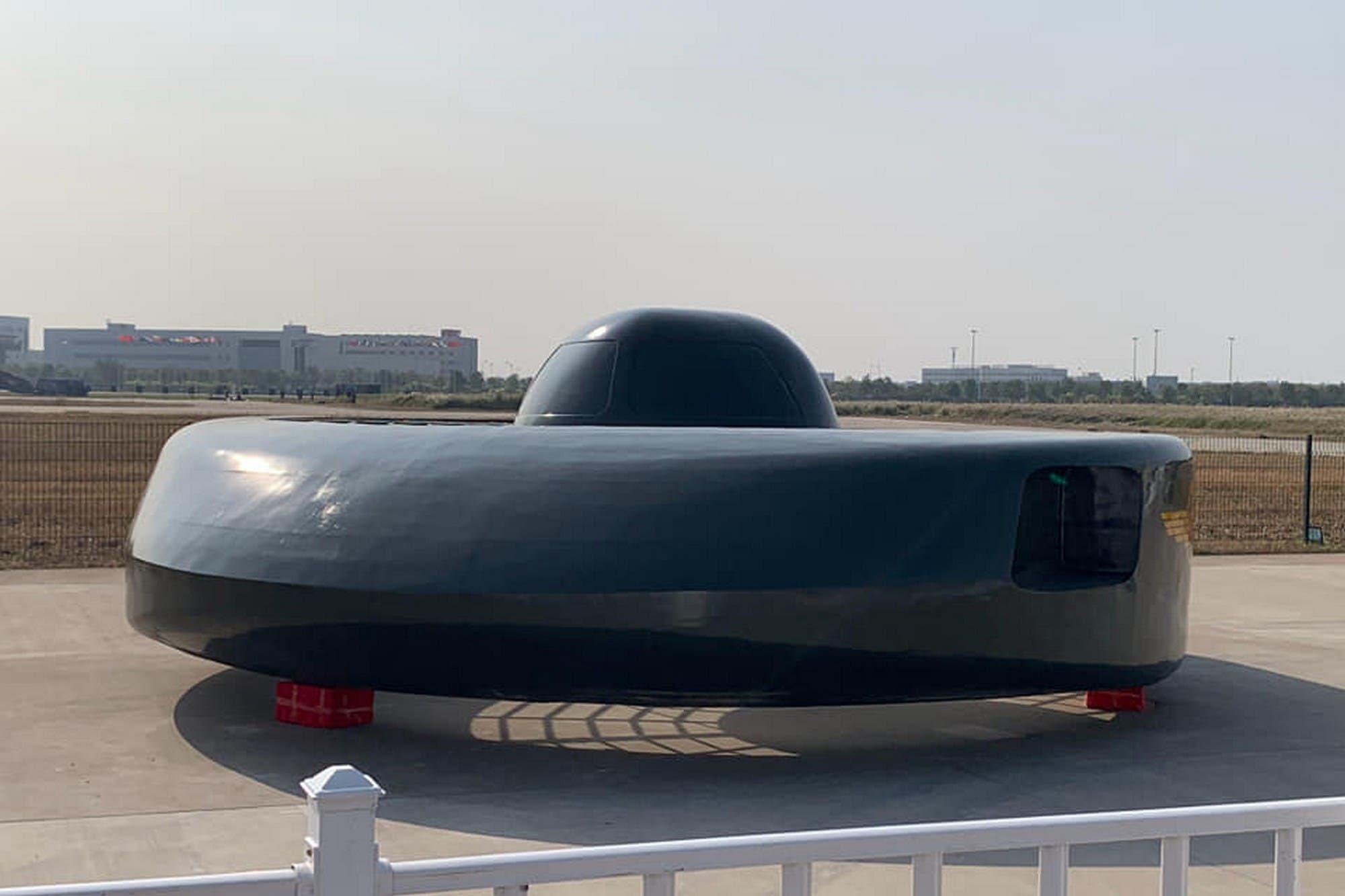 Este es el sorprendente helicóptero chino con forma de plato volador
