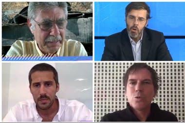 Hugo Sigman, fundador y CEO de Grupo Insud; Javier Goñi, CEO de Ledesma; Ignacio Bartolomé, director de GDM Seeds; y Alec Oxenford, fundador y CEO de LetGo