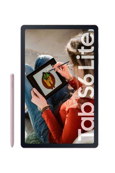 Confortable. La Galaxy Tab S6 Lite de Samsung cuenta con un diseño compacto y ligero, cuerpo metálico, pantalla de 10,4 pulgadas y viene en tres versiones: gris, celeste y rosa. Incluye un lápiz para su pantalla táctil ($46.999).
