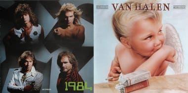 Contratapa y tapa de 1984, sexto disco de Van Halen