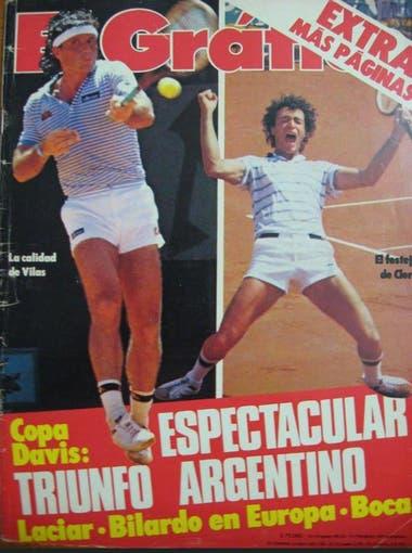 En la tapa de El Gráfico, junto a Guillermo Vilas; fueron los primeros en llegar a una final, en 1981.