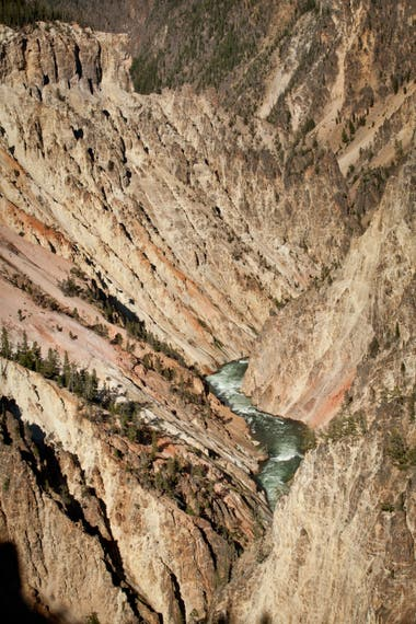 El Grand Canyon de Yellowstone.