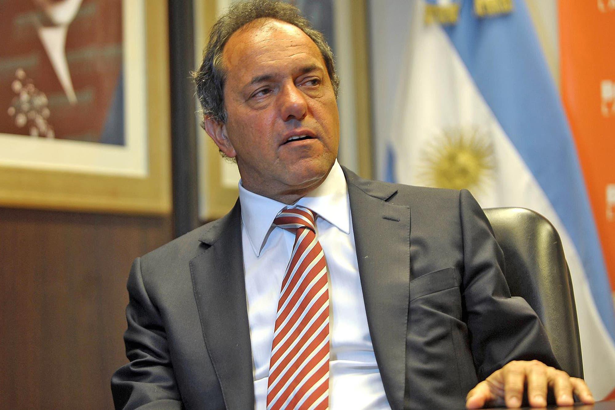 """Daniel Scioli: """"Es una decisión tomada, voy a ser candidato a presidente contra Cristina o contra quien sea"""""""