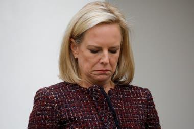 Kirstjen Nielsen, ahora exsecretaria de Seguridad Nacional, estaba cada vez más frustrada