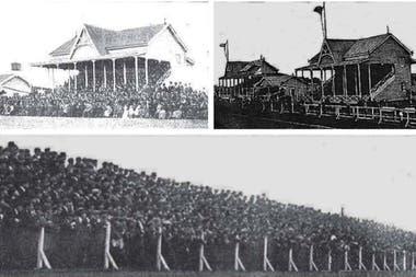 El viejo estadio de madera de GEBA, colmado para la definición frustrada entre la Argentina y Uruguay