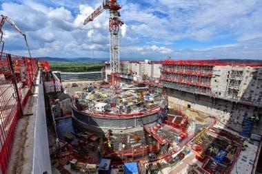 Vista aérea del sitio de construcción de ITER, en sur de Francia Crédito: Gentileza ITER