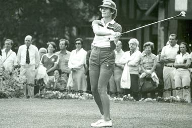En 1980, jugando en la cancha del Jockey Club