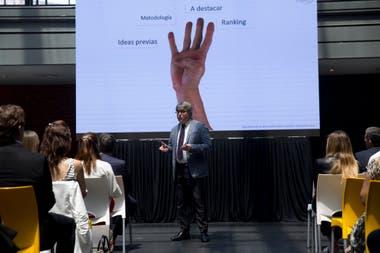 Manuel Sevillano, director general de Merco, en el discurso inaugural del evento