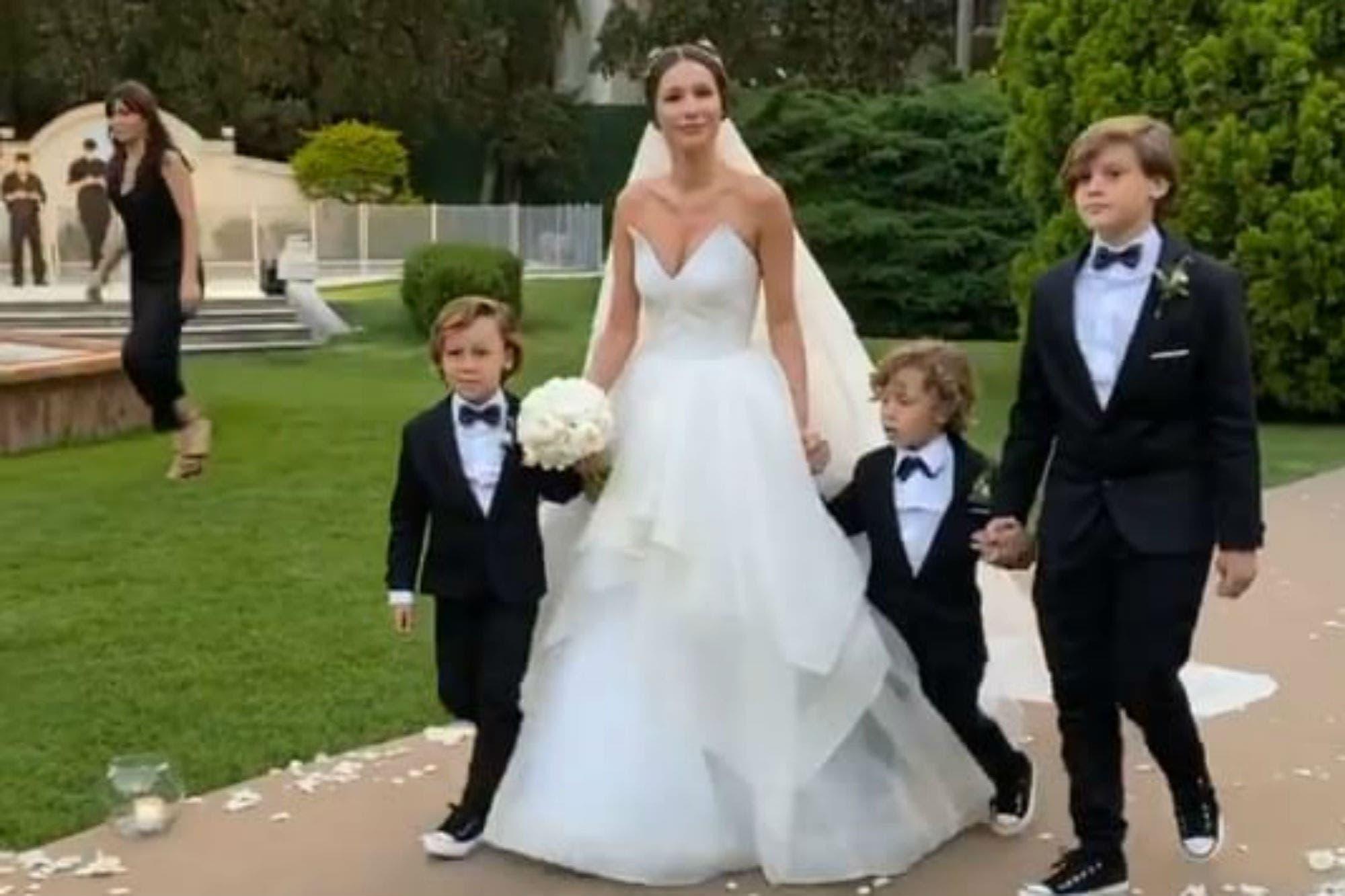 El casamiento de Pampita: así es el vestido elegido por la novia