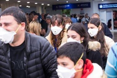 Controles por coronavirus en el aeropuerto de Ezeiza