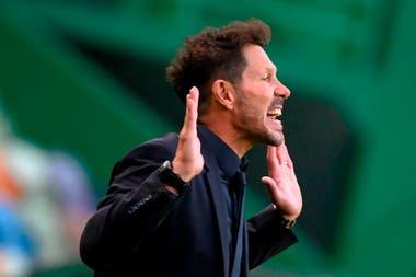 Diego Simeone, el enérgico entrenador de Atlético de Madrid