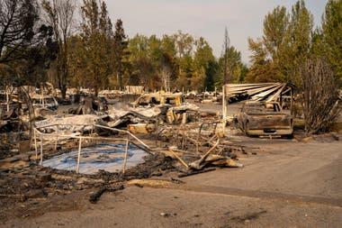 El fuego arrasó parte del estado de Oregon