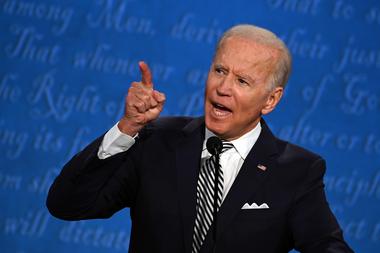 Joe Biden, quien debatió en televisión con Trump el martes pasado, dio negativo