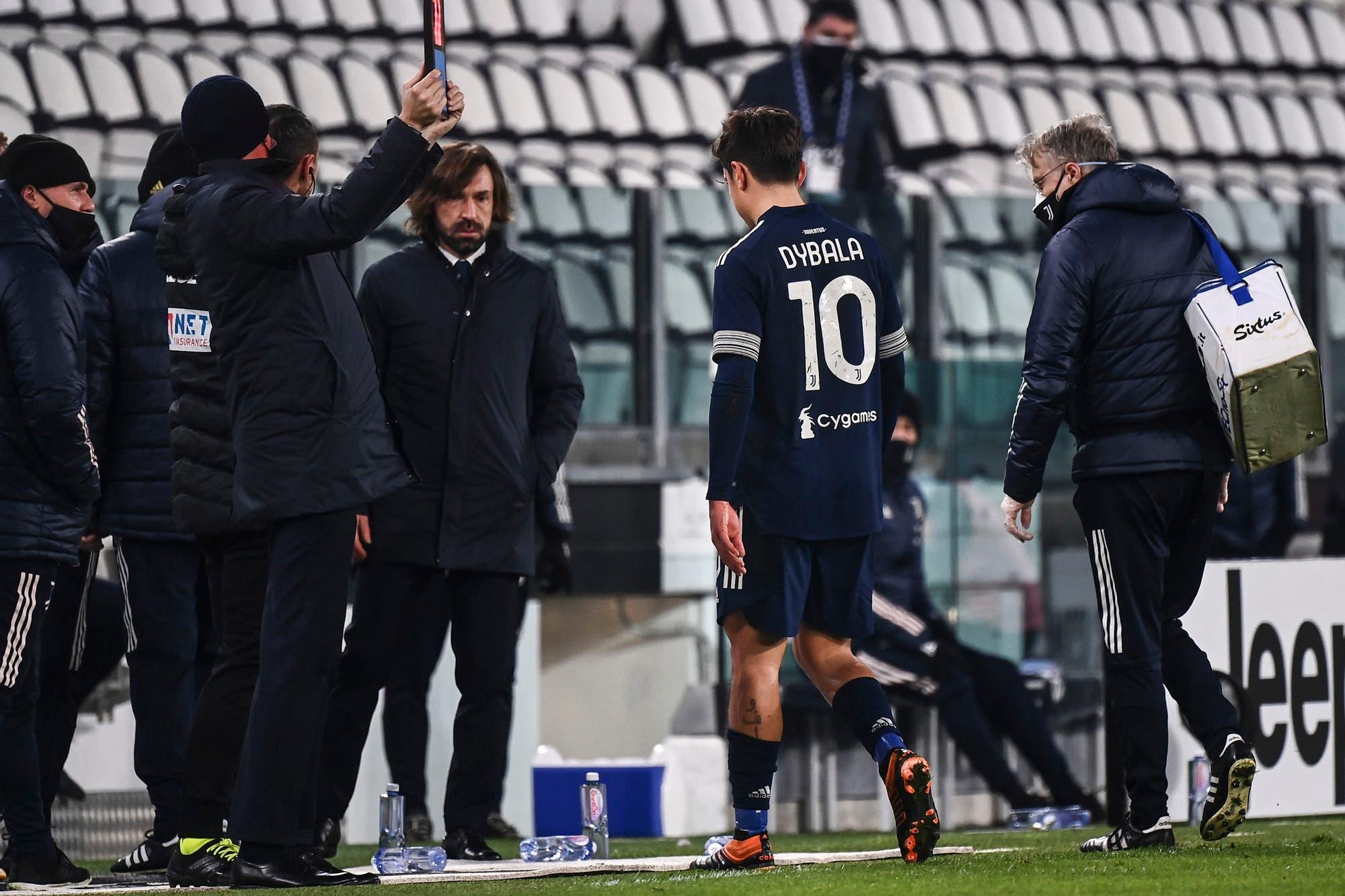 Juventus: Paulo Dybala salió lesionado en el partido que Cristiano alcanzó el récord goleador mundial
