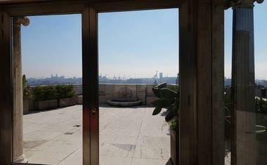 Vista exterior desde el piso 14 del Kavanagh