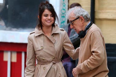 Selena Gomez junto a Allen en el rodaje de A Rainy Day in New York