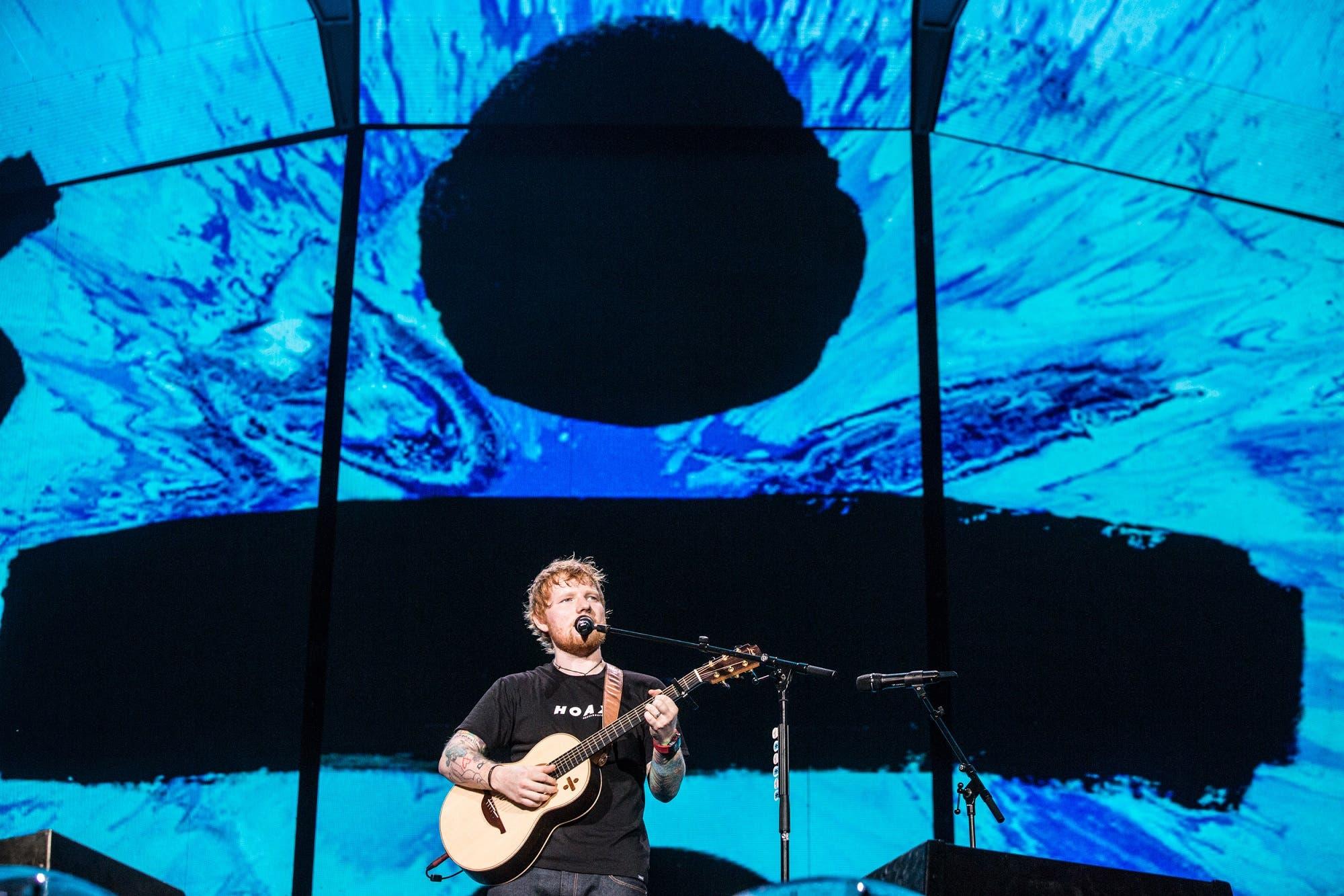 Ed Sheeran cantó para 45.000 personas en el Campo de Polo