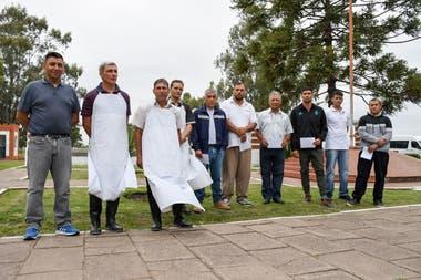 Los internos de la cárcel que trabajarán en la quesería y el tambo