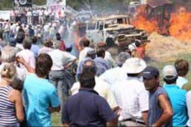 El acto del 19 de marzo de 2008 por el cual están procesados los ruralistas