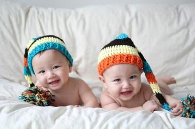 Una de las fotos que Karina Gao publicó tiempo atrás de sus hijos gemelos a través de la cuenta de su emprendimiento @monpetitglouton