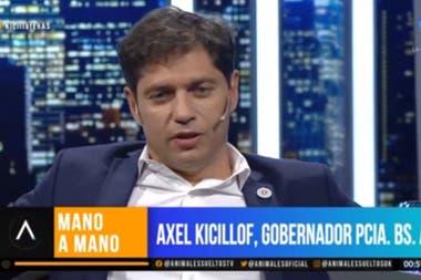 El gobernador de Buenos Aires mantuvo un mano a mano con Luis Novaresio en el debut de Animales Sueltos Fuente: captura de televisión