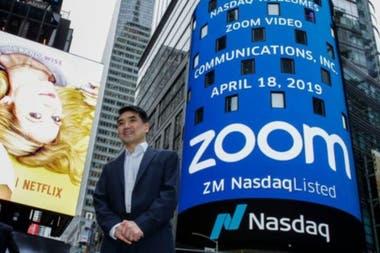 El fundador de la aplicación de reuniones virtuales Zoom, Eric Yuan, es uno de los grandes ganadores en medio de la pandemia