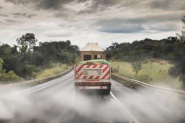 El camión que trasladó a Mara en la ruta