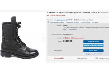 El precio de las botas Chanel en Ebay
