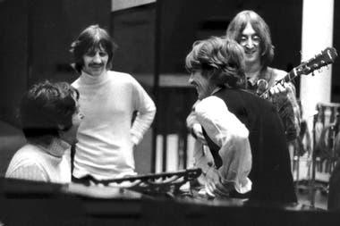 The Beatles durante la grabación del Album Blanco