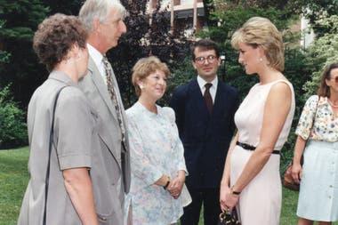 Lady Di en la Embajada Británica de Luis Agote al 2400, donde residió en Argentina