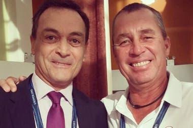 Con Iván Lendl, uno de los mejores amigos que le dejó el circuito y con el que solía jugar al golf.