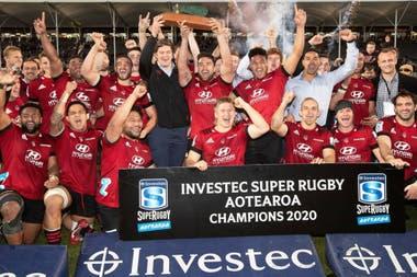 Crusaders, campeón del Super Rugby Aotearoa 2020, en Nueva Zelanda