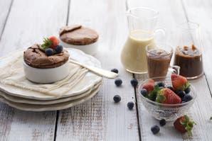 Pudding húmedo de chocolate