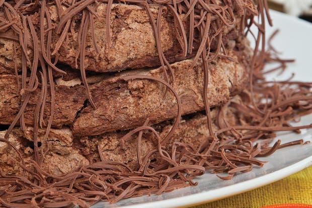 Receta de Torta de merengue y mousse de chocolate