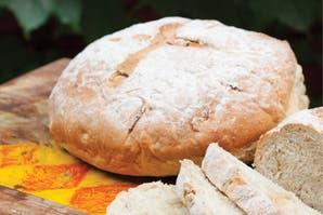 Pan de campo con cebollas