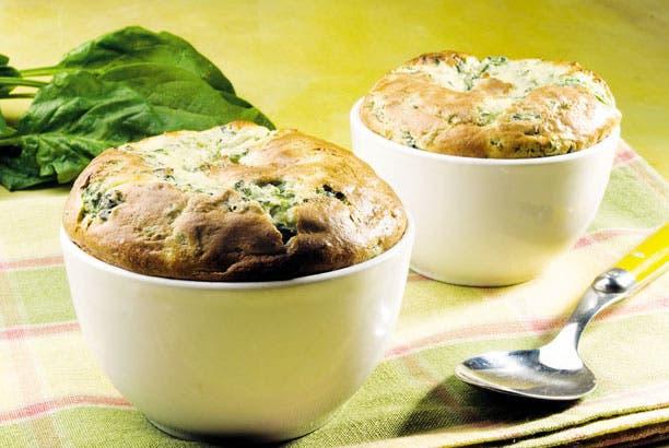Receta de Soufflé de espinaca y queso parmesano